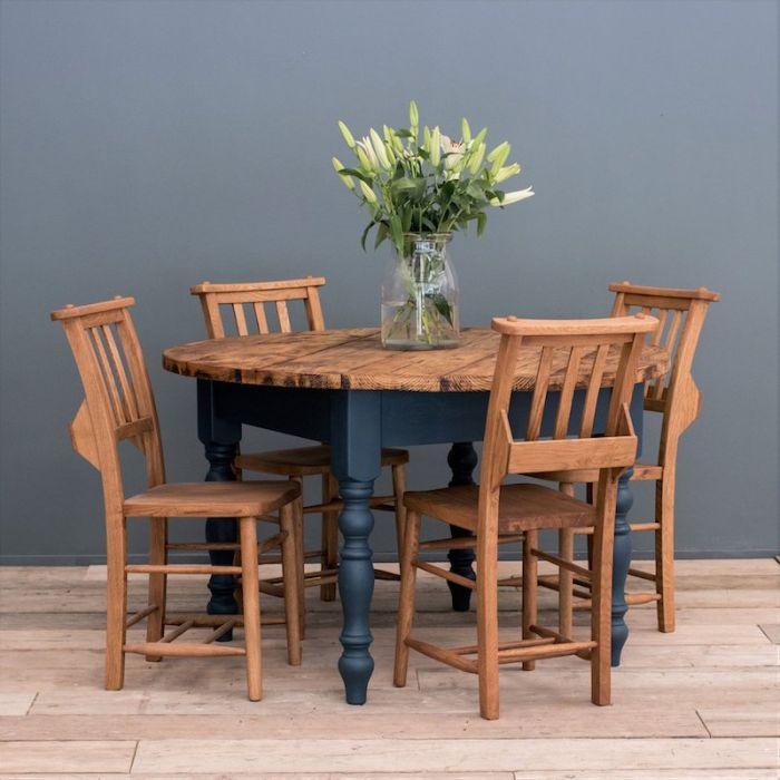 Farmhouse Table Round Rustic Dining, Rustic Farmhouse Furniture