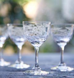 Set of 6 'Ferns' Liqueur Glasses