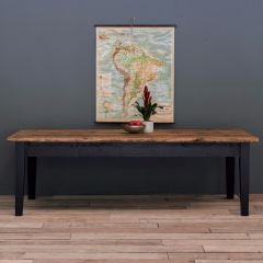 11ft Rustic Farmhouse Dining Table with Tapered Legs
