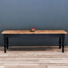 11ft Rustic Farmhouse Dining Table with Turned Legs