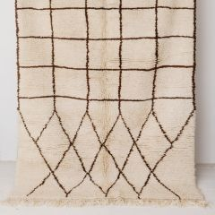 Handwoven Sheep Wool Beni Ourain 'Fatima' Rug