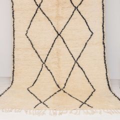 Handwoven Sheep Wool Beni Ourain 'Aicha' Rug