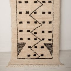 Handwoven Sheep Wool Beni Ourain 'Meryem' Rug