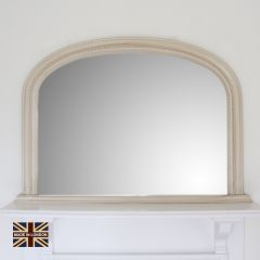 'Diana' Grey Overmantle Mirror