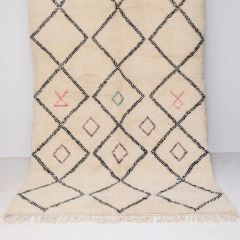Handwoven Sheep Wool Beni Ourain 'Amira' Rug