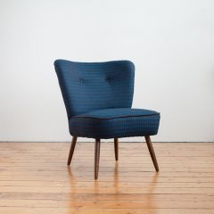 50's Cocktail Chair in Timorous Beasties for Bute Fabric Ramshead