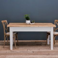 6FT Farmhouse Table with Straight Legs & VARIOUS COLOUR OPTIONS