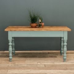 6ft Rustic Farmhouse Dining Table with Turned Legs