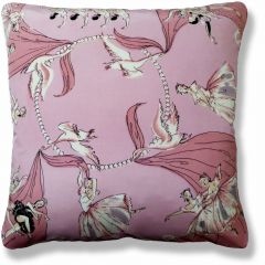 Vintage Pink Swan Lake Cushion