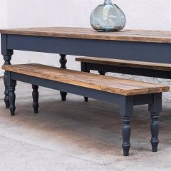 7FT Farmhouse Table Rustic Dining Table Straight Legs Colour Options