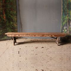 19th Century English Golf Club Pine Bench