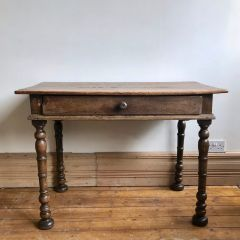 Antique Farmhouse Table with Drawer Desk