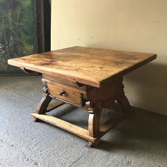 Antique Fruitwood Counter Table Dining Walnut