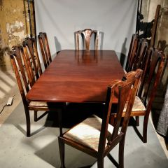 Antique Regency Mahogany 8 Seat Dining Table