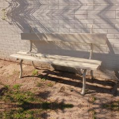"Antique ""Rustique"" Metal Garden Bench"