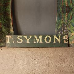 Antique Wooden Trade Sign