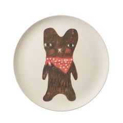 Bamboo Fibre Eco-Friendly Hand-Painted Bear Plate