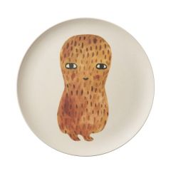 Bamboo Fibre Eco-Friendly Hand-Painted Peanut Plate