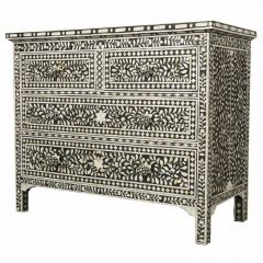 Black Mother of Pearl Chest of Drawers