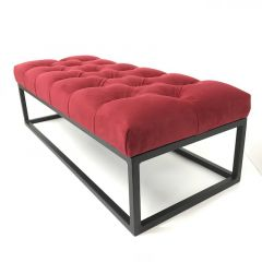 Boxed Frame Deep Buttoned Footstool