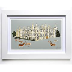 'Burghley House' Signed Print
