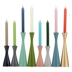 Stylish Lacquered 'Scandi' Painted Candle Holders