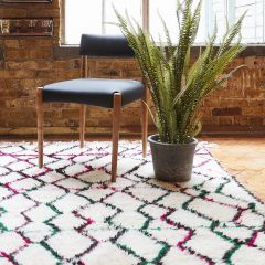 Handwoven Sheep Wool Beni Ourain 'Anisah' Rug