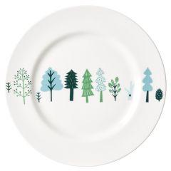 Ceramic Bone China Hand Decorated Trees Dinner Plate