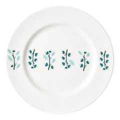 Ceramic Bone China Hand Decorated Acorn Twig Dinner Plate