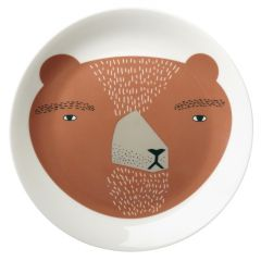 Ceramic Bone China Hand Decorated BearFace Plate