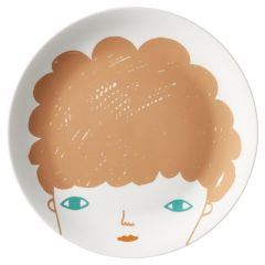 Ceramic Bone China Hand Decorated Boy Face Plate
