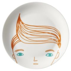 Ceramic Bone China Hand Decorated Boys Face Plate
