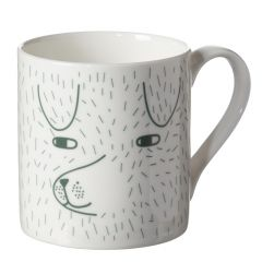 Ceramic Bone China Hand Decorated Dog Mug