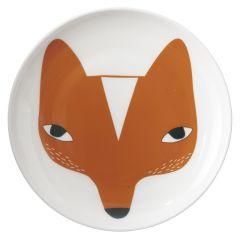 Ceramic Bone China Hand Decorated Fox Face Plate