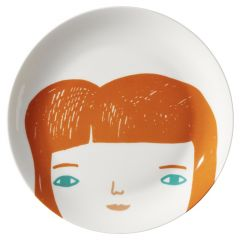 Ceramic Bone China Hand Decorated Girl Face Plate