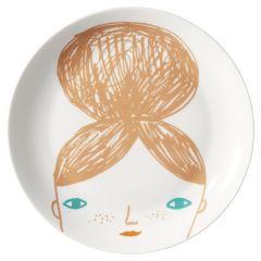 Ceramic Bone China Hand Decorated Kids Face Plate