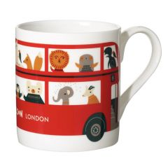 Ceramic Bone China Hand Decorated London Bus Animal Mug