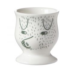 Ceramic Bone China Hand Painted Dog Egg Cup