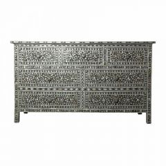 Charcoal Mother of Pearl Chest of 7 Drawers