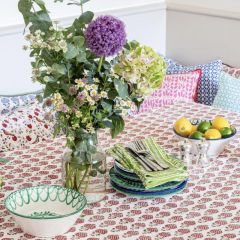 Moghul Rose Tablecloth in Red