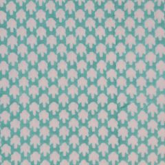 Chicken Feet Fabric in Aqua