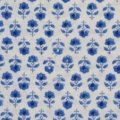 Flower Buta Fabric in Blue