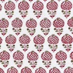 Moghul Rose Fabric in Red