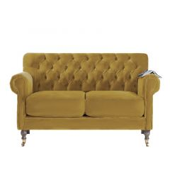 Classic Traditional Deep Buttoned Upholstered Sofa
