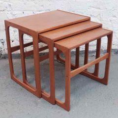 Danish Nest of 3 Side Tables