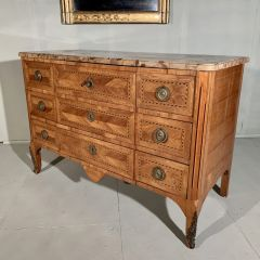 Early 19th Century French Commode With Breche D'alep Marble