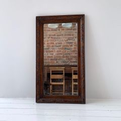 DECORATIVE HARDWOOD MIRROR
