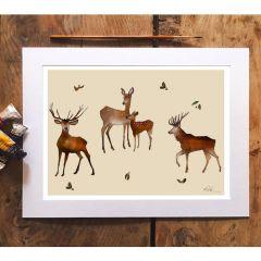 'Deer Stag' Signed Print