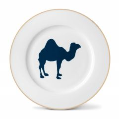 Camel China Dinner Plate with Gold Rim