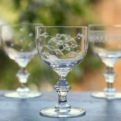 Set of 6 'Ferns' Wine Goblets